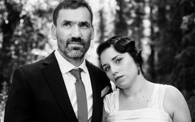 Natalie & Peter – ett vintagebröllop i skogen
