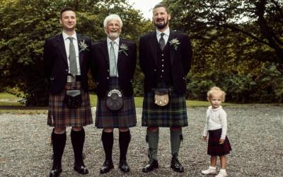 Jane & Peter – Ett Skotskt Vintagebröllop på Ängby Slott